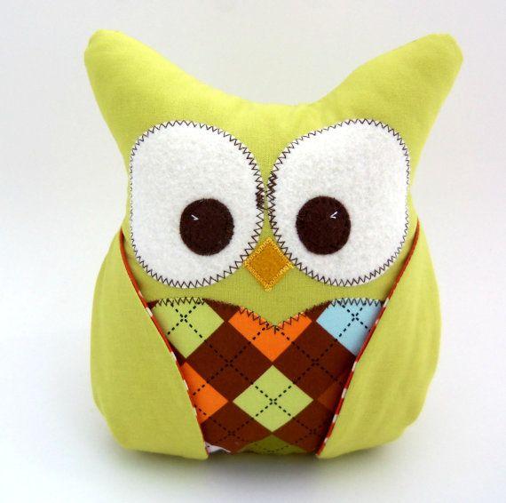 Plush Owl Pillow by aprilfoss on Etsy, $29.00