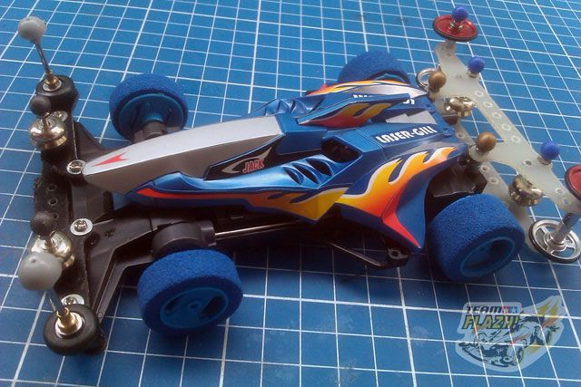 laser gill super x chassis tamiya mini 4wd collections mini