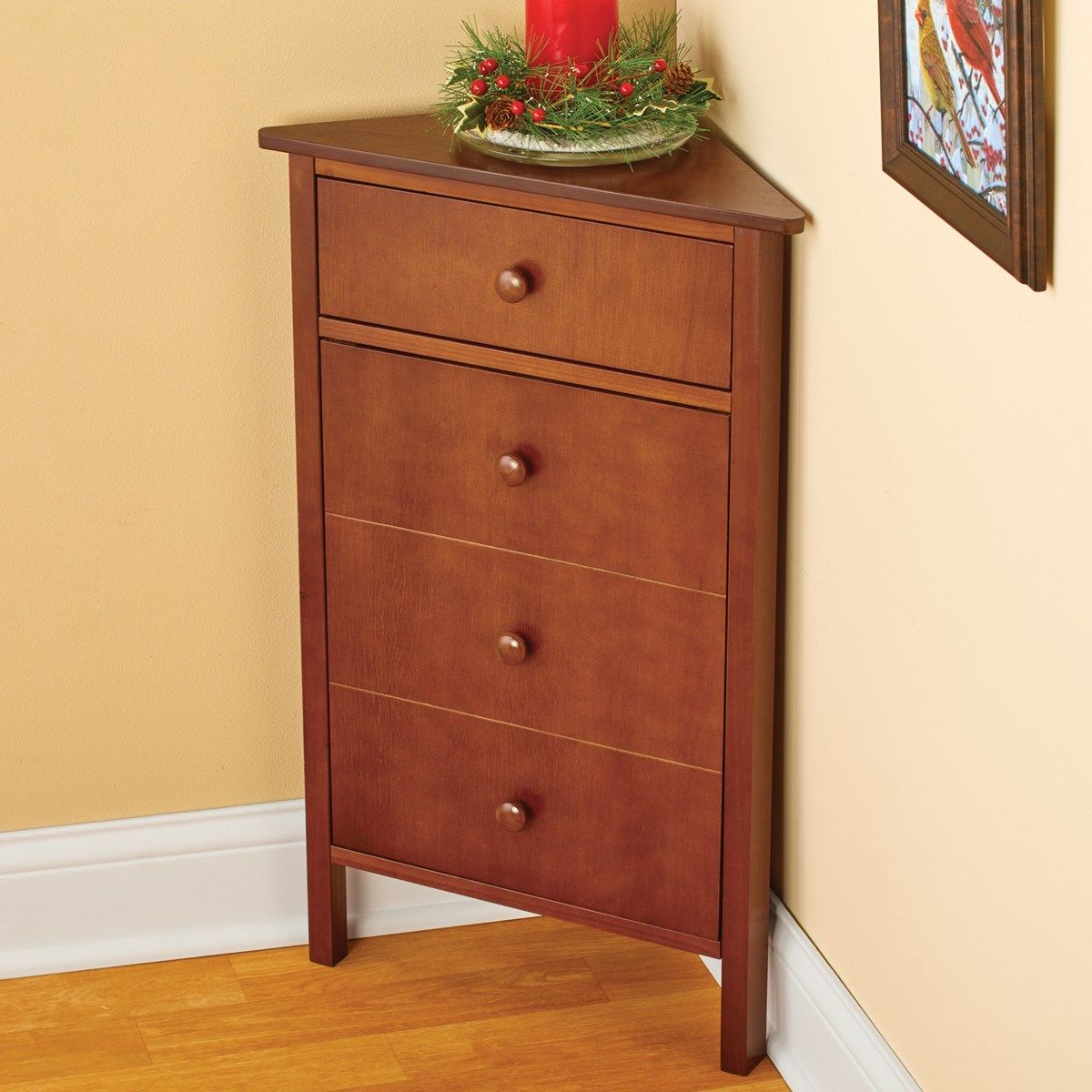 Corner Wooden Cabinet With Storage And Magnetic Closure Collections Etc Wooden Cabinets Collections Etc Storage Spaces