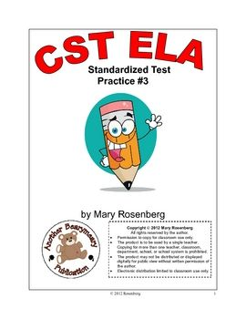 This is a 20 page test practice packet for second grade. The questions are in standardized test format. There is also a chart showing which standar...