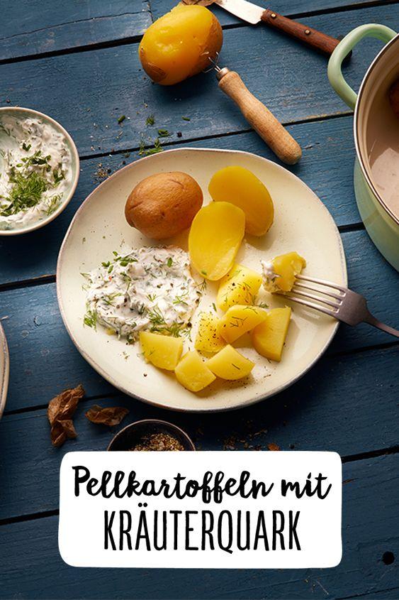 Pellkartoffeln mit Kräuterquark | Rezept in 2019 | Essen ...