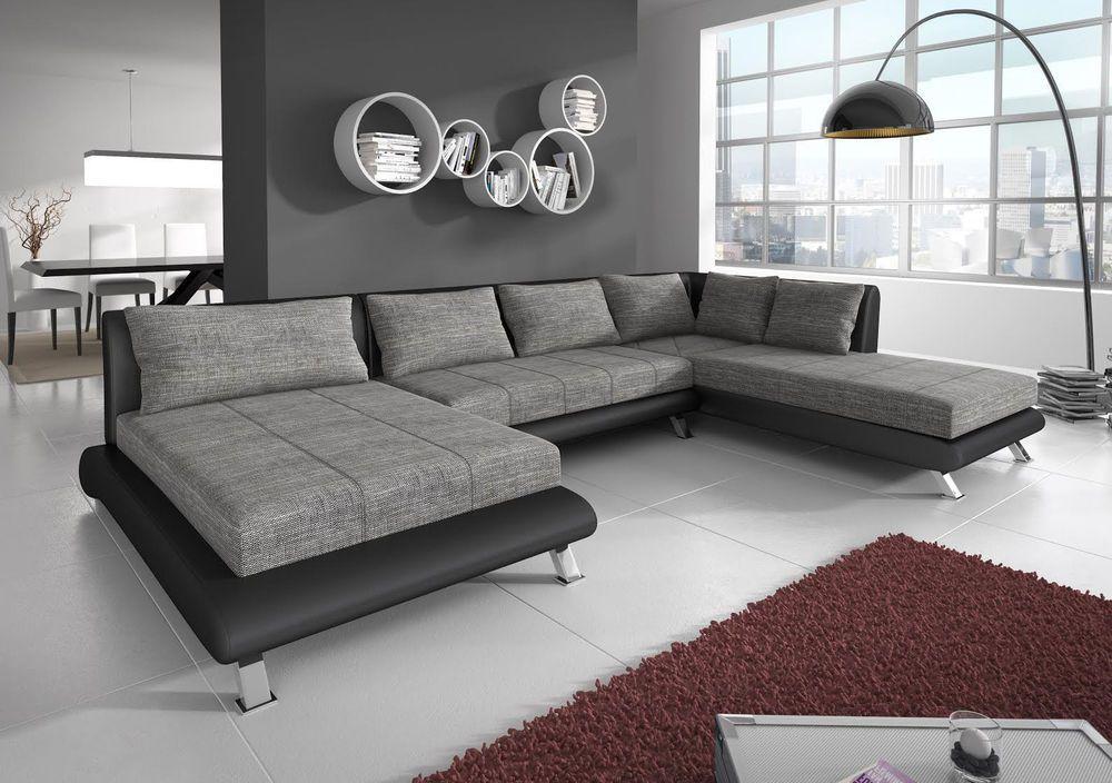 Sofa Couchgarnitur Ecksofa Big Wohnlandschaft Couch ONTARIO 4 - big sofa oder wohnlandschaft