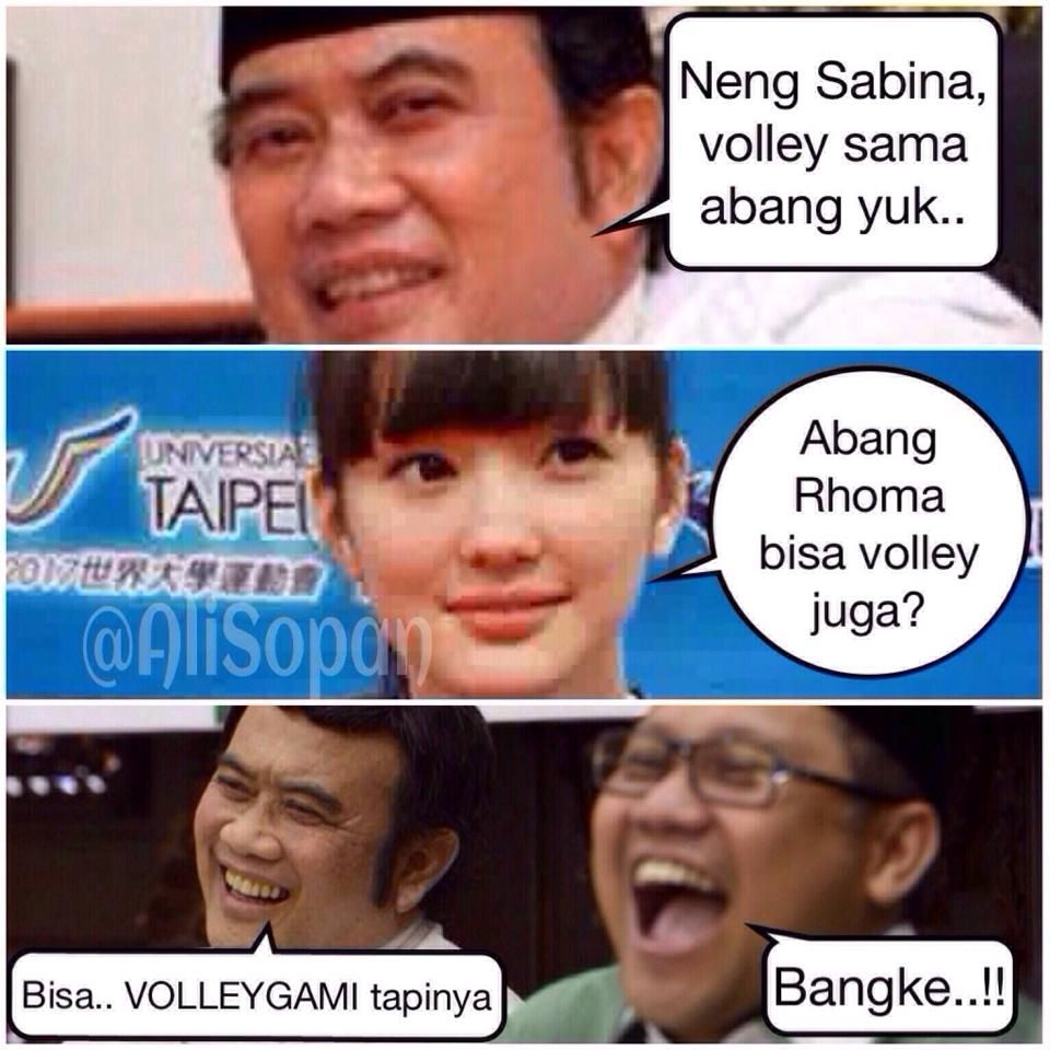 Neng Sabina Main Volley Yuk Meme