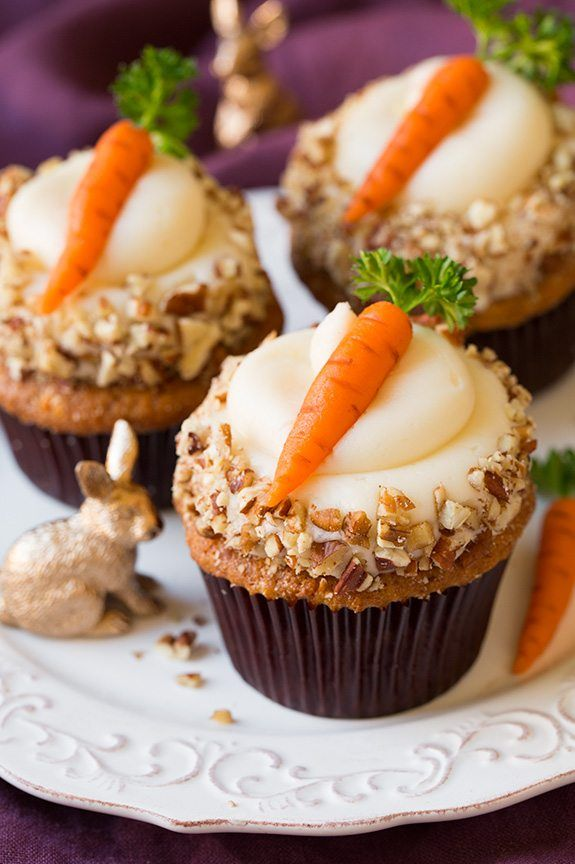 pictures of carrot cake cupcakes
