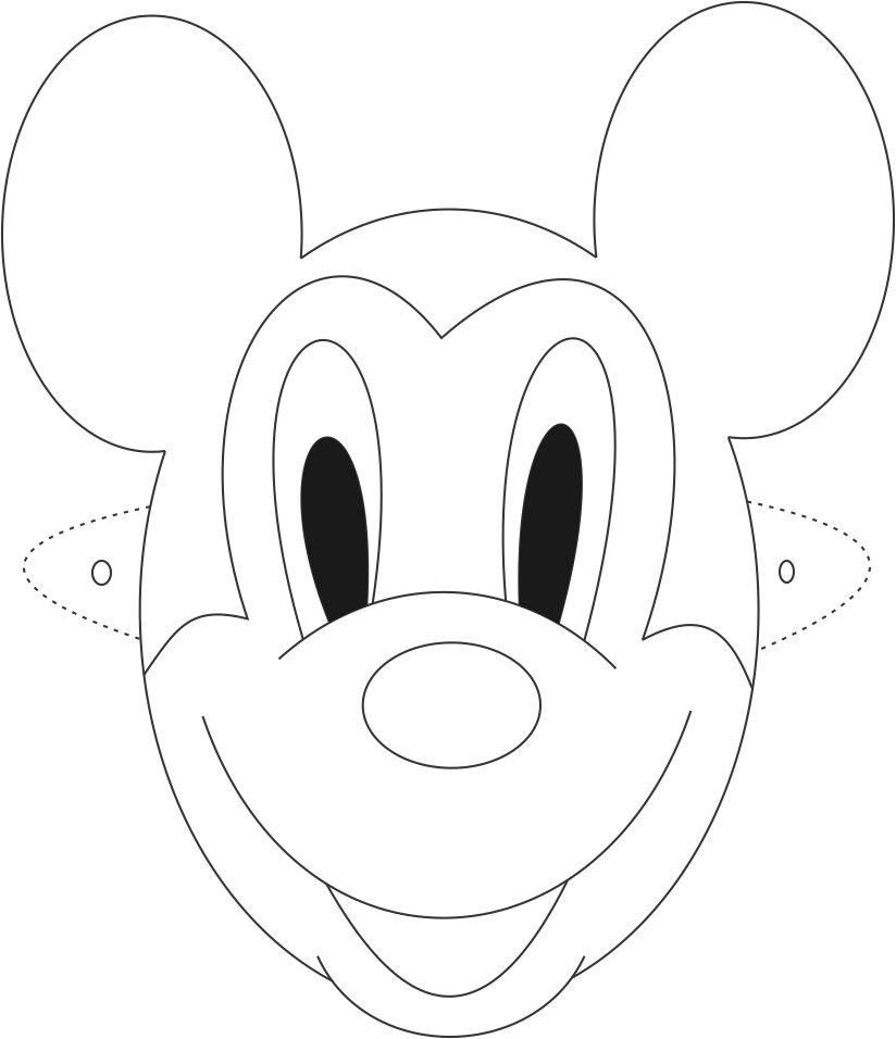 Mask Printable Mickey Mouse Mask Printable Coloring Page For