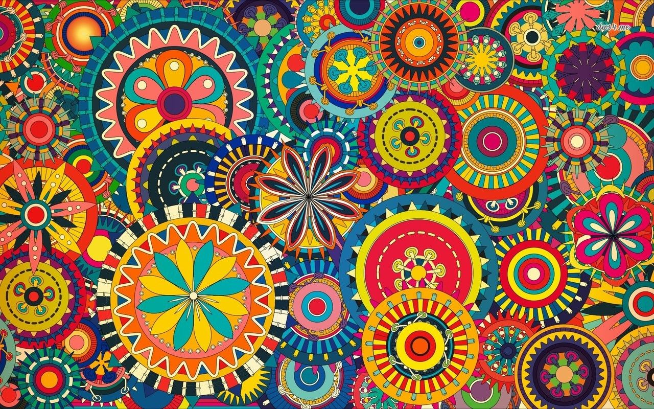 Colorful Floral Pattern Hd Wallpaper Colorful Backgrounds Background Patterns Abstract