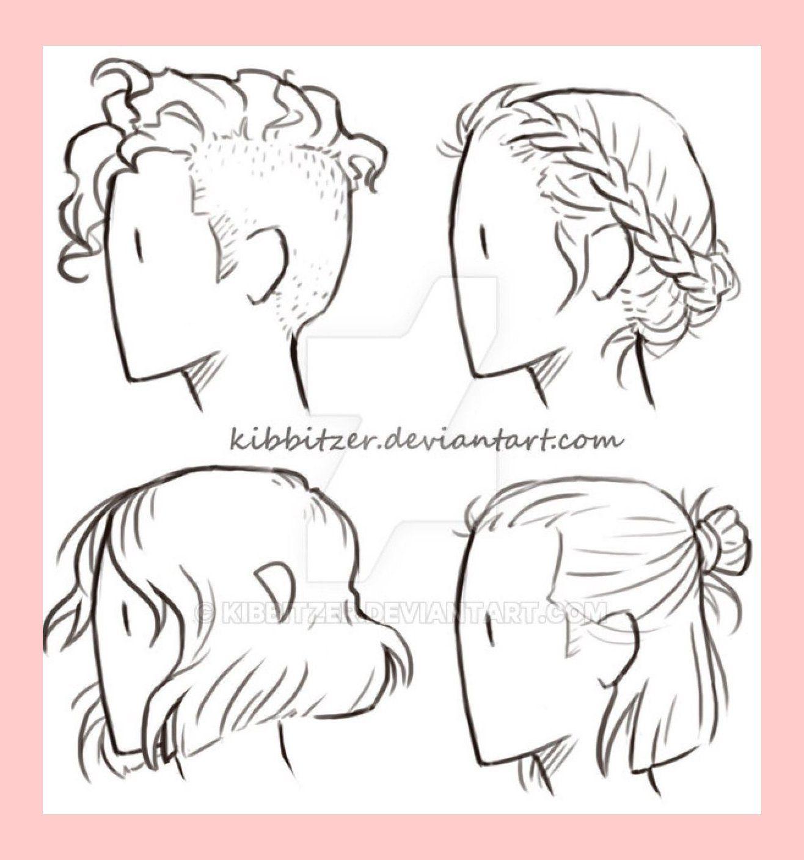 Short Hair Reference Sheet By Kibbitzer On Deviantart 9447 In 2020 Lockiges Haar Zeichnen Haare Skizze Zeichnungen Von Haaren
