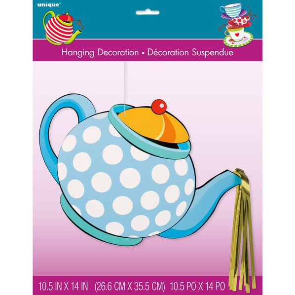 Check out Tea Party Large Hanging Décor Tea Pot w/ Foil - Wholesale Party Supplies from Wholesale Party Supplies
