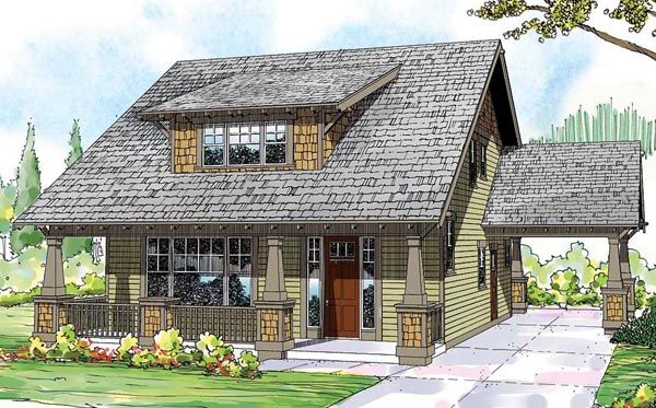 Bungalow cape cod cottage country craftsman house plan for Craftsman cape cod
