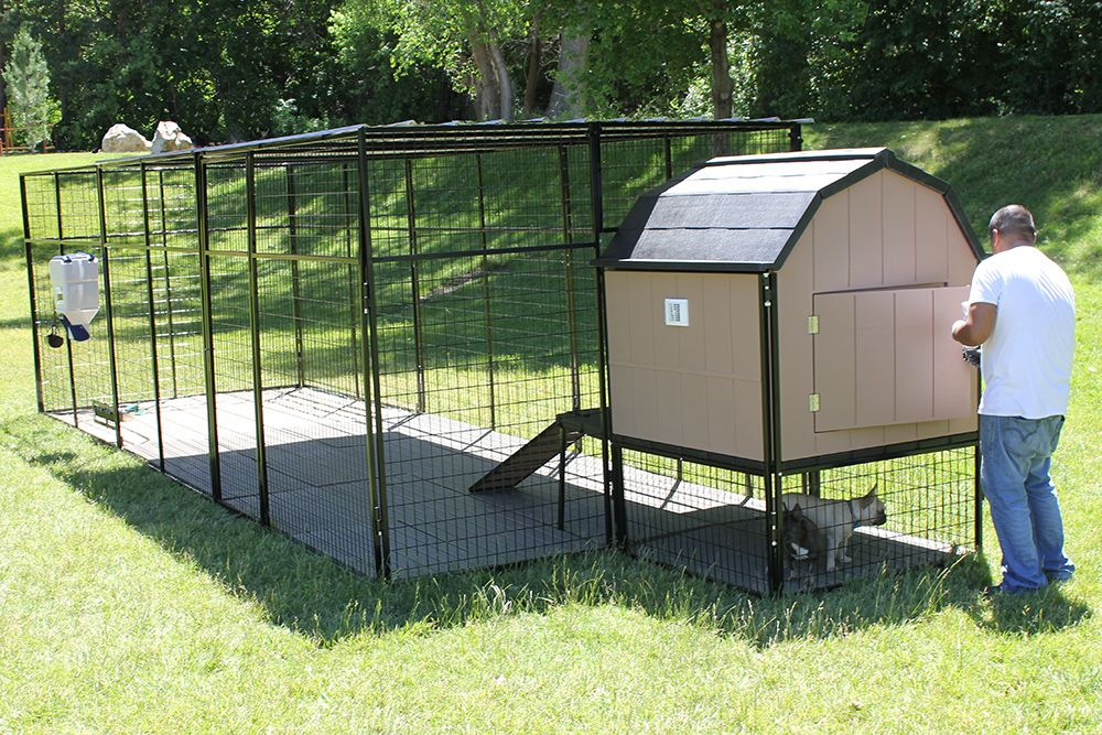 the modern barn dog dog habitat is fully insulated and elevated off the ground when used in conjunction with a all steel kennel store dog run kennel