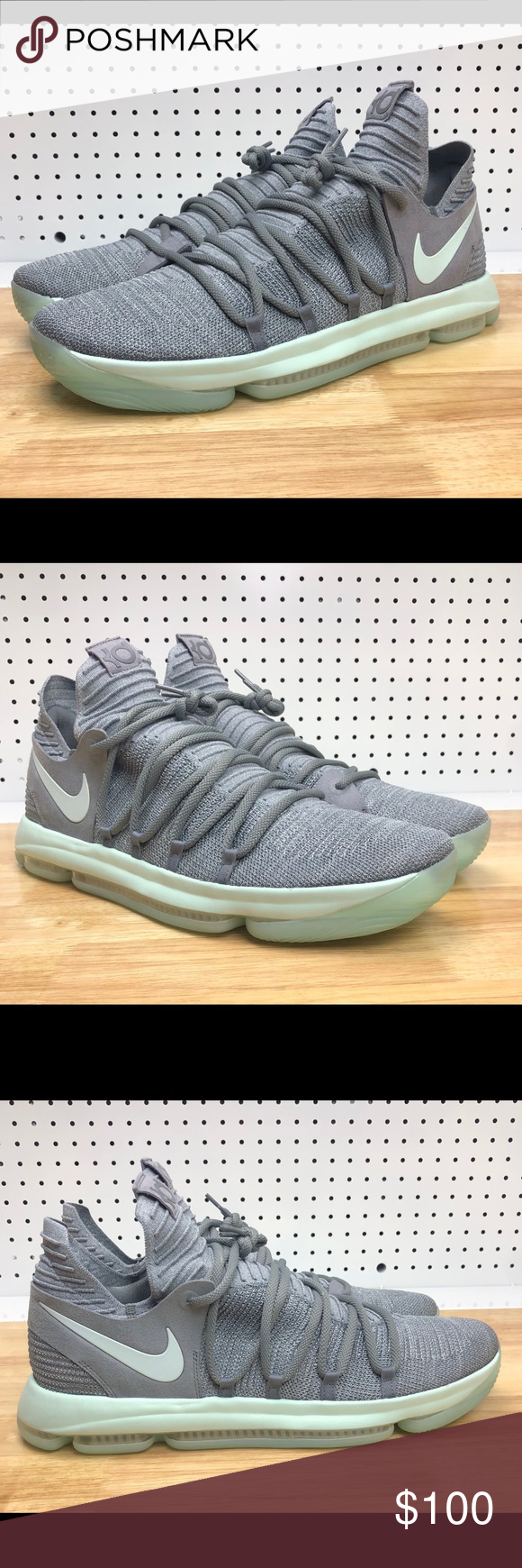 size 40 b012c 4cf24 Nike Zoom KD 10 X Igloo Mens Cool Grey Basketball Nike Zoom KD 10 X Igloo Mens  Cool Grey Basketball Shoes - Men s Size 18 - 897815-002 - NEW WITHOUT BOX  ...