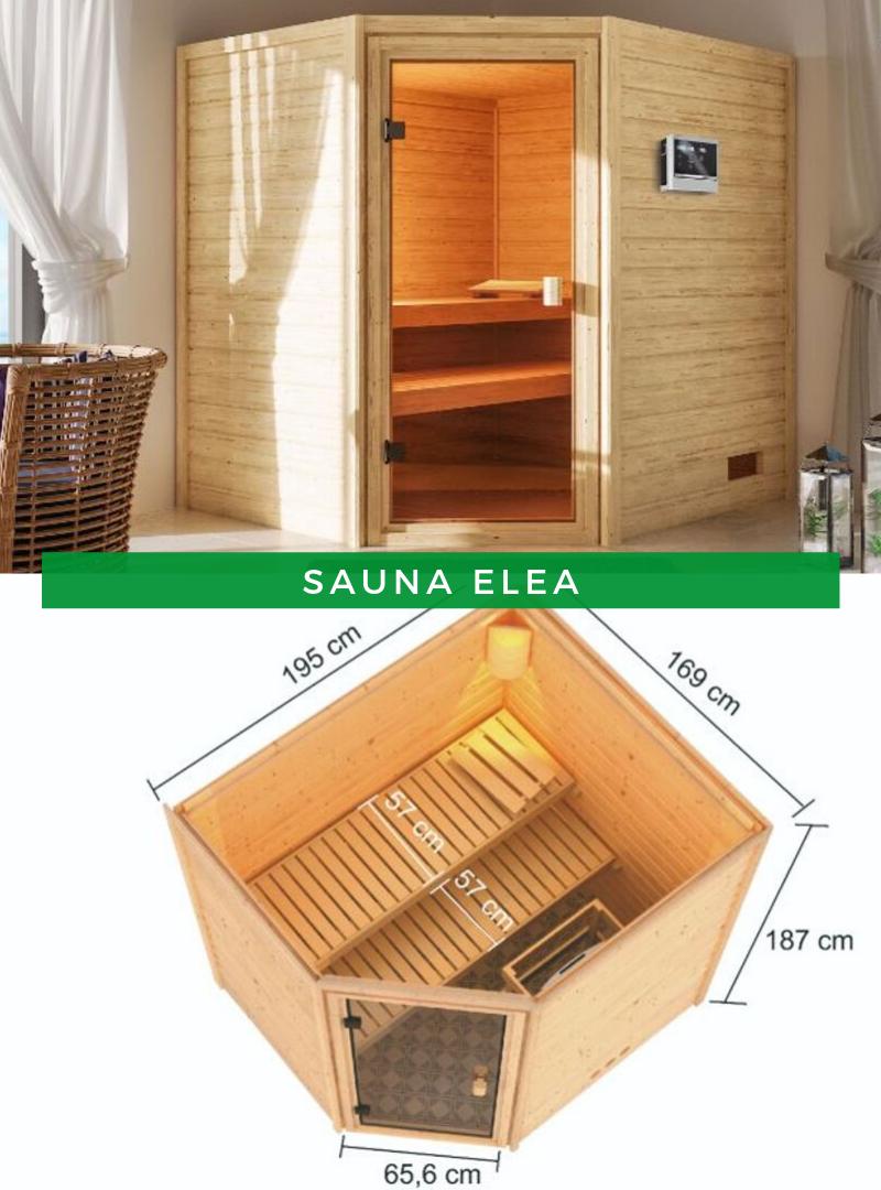 Karibu Woodfeeling Sauna Elea mit Eckeinstieg in 2020