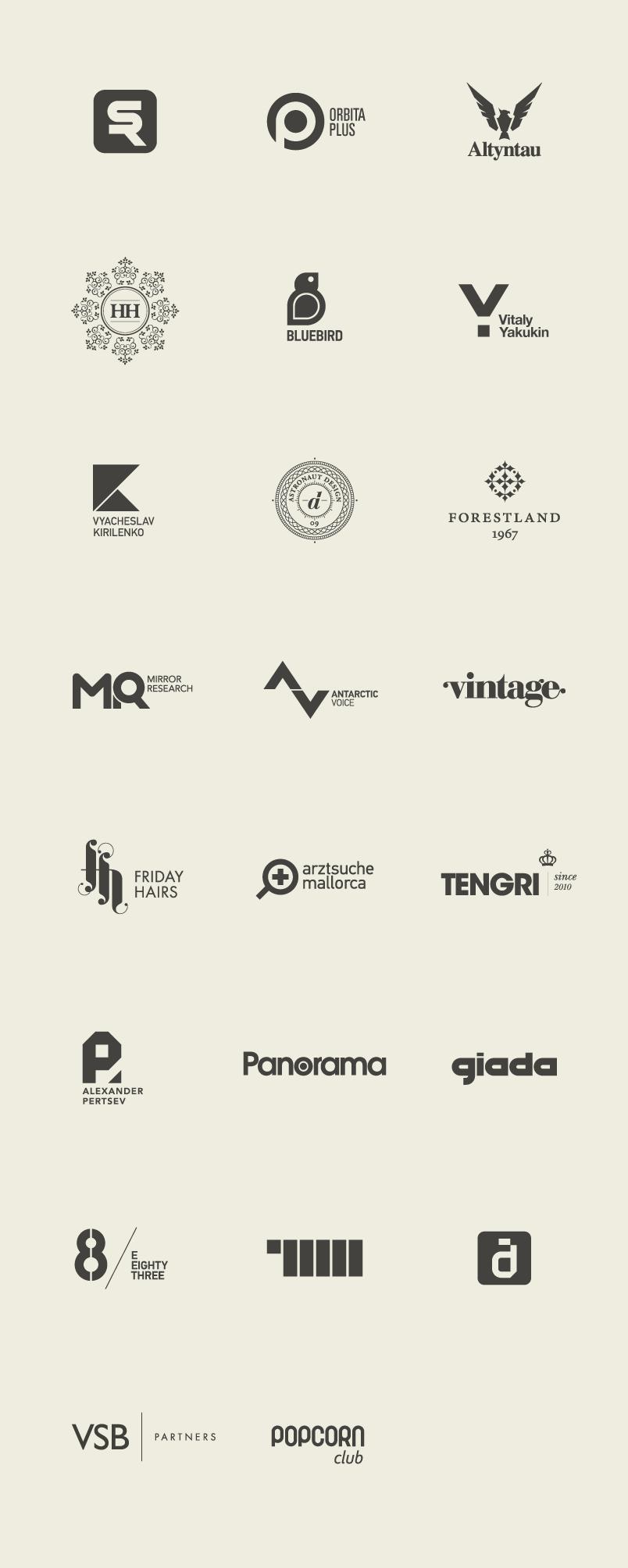 for doing flat design right Astronaut Design and Typography (Vyacheslav Kirilenko) – logo setAstronaut Design and Typography (Vyacheslav Kirilenko) – logo set