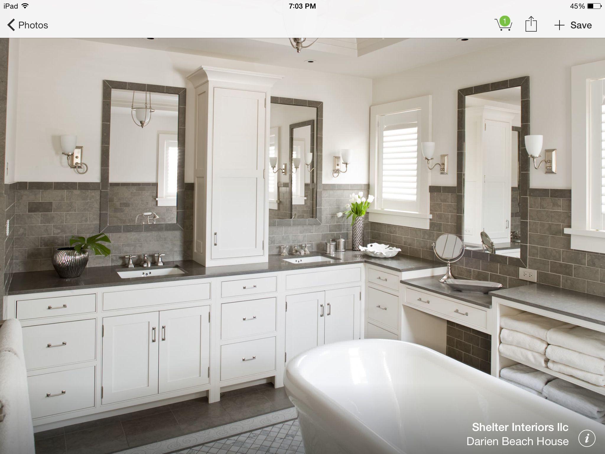 remodel ideas gray white bathroom coastal bathroom on bathroom renovation ideas white id=61311
