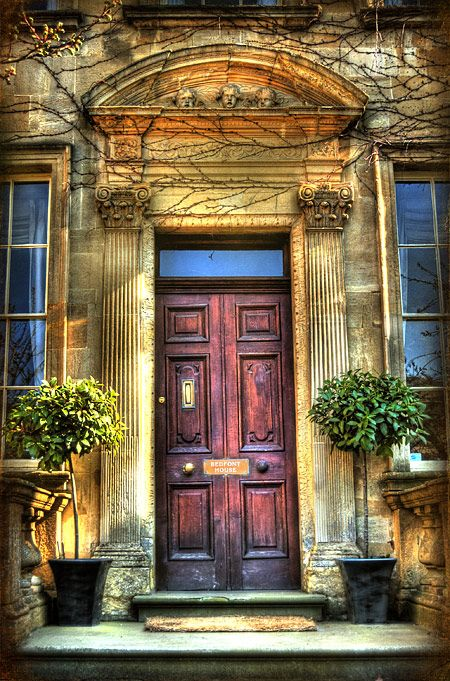 A front door with a fine patina
