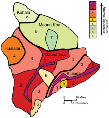 Hvo Researchers Have Created A Map Of Volcanic Hazard Zones On The Big Island Ranked One Through Nine With Zone One Being Mauna Loa Lava Flow Hawaii Volcano