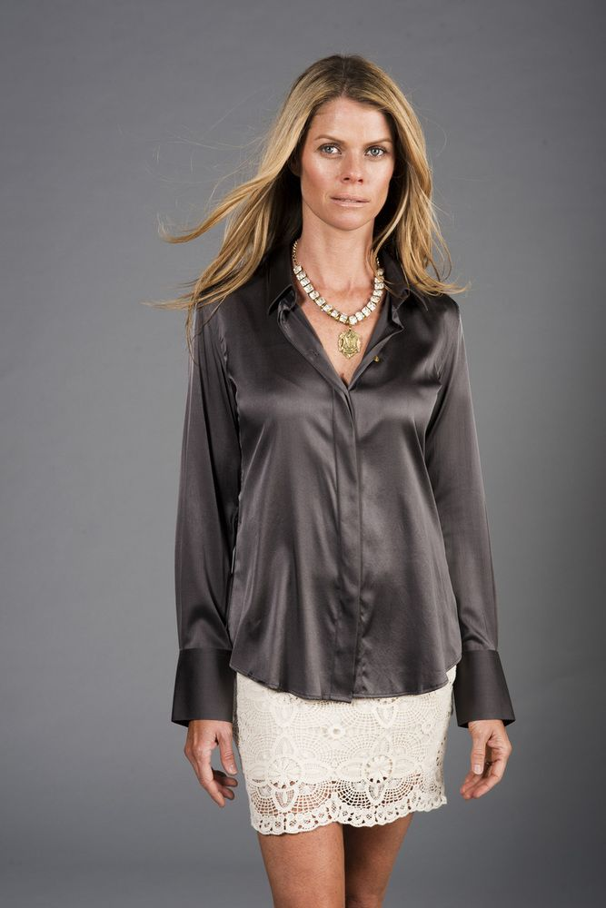 The Silk Ivy Womens Fitted Silk Blouse Ladies Pinterest