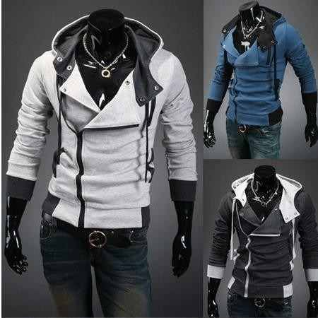 Jaqueta de Frio Masculina com Zíper Casual Elegante Casaco de Inverno