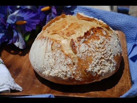 Artisan No-knead bread - 50 cent a loaf - 10 mins work no special equipment needed - YouTube