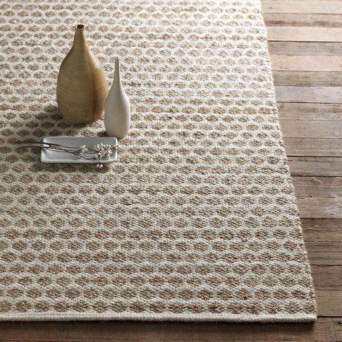 West Elm S Jute Dot Rug Honeycomb Pattern 180 280 For