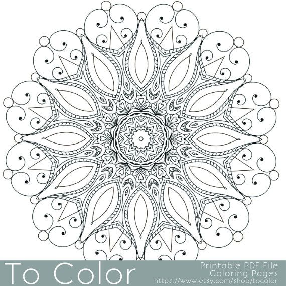 Intricate Printable Coloring Pages For Adults Gel Pens Mandala Pattern Pdf Jpg Instant Do Coloring Pages Coloring Pages For Grown Ups Adult Coloring Pages