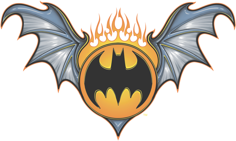 Batman Bat Wings Logo Men's Ringer TShirt (Dengan gambar