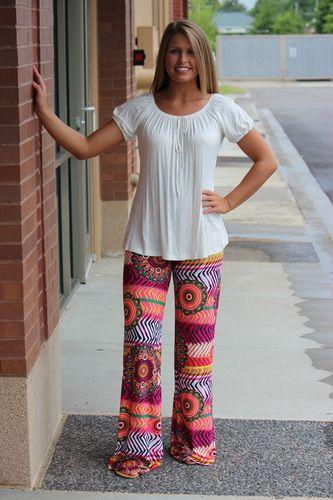 Funky Zebra Yoga Pants-Fuchsia, $32.00