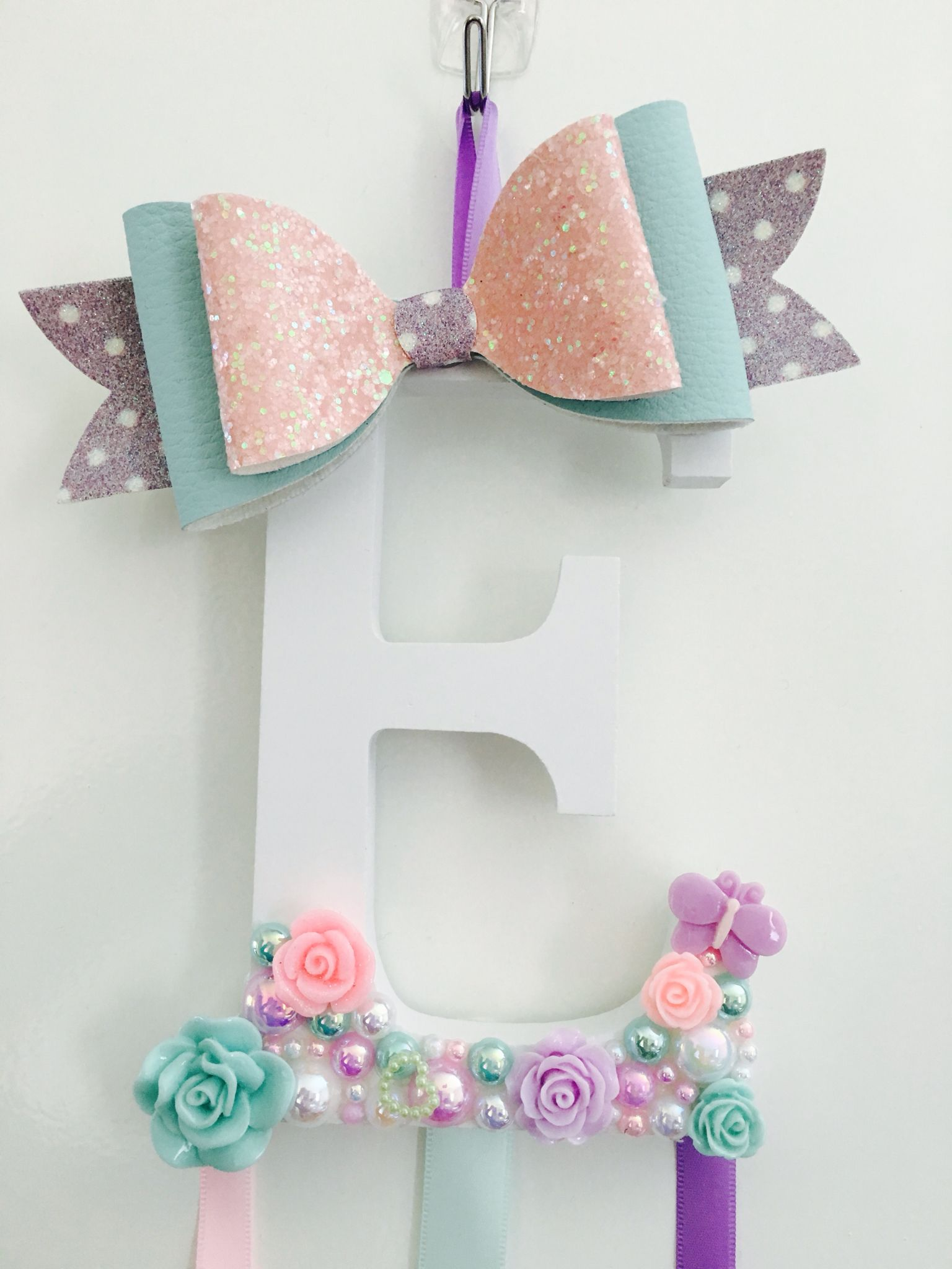 Hair bow holder #hairaccessories #hairbowholder