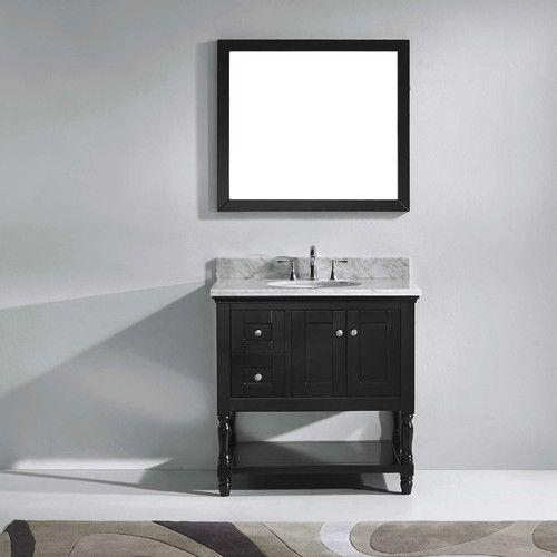 "Found it at Wayfair - Julianna 36"" Single Bathroom Vanity Set with Carrara White Top and Mirror"