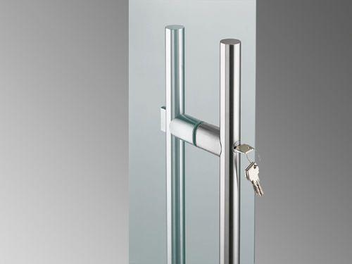 Glass Door Handle Stainless Steel Contemporary With Lock Sadev Glass Door Lock Modern Sliding Glass Doors Door Handles