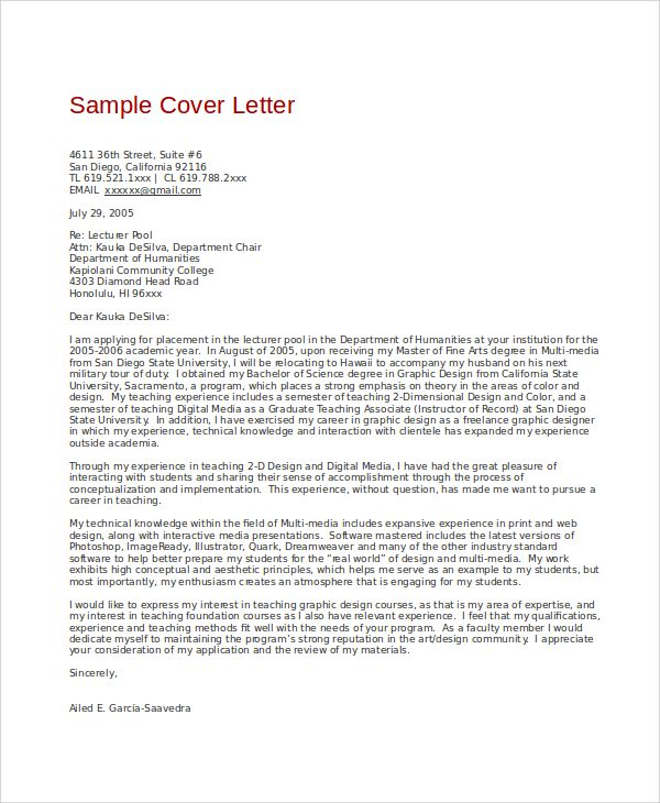 Dean Schwaig Rec Letter University Washington Libraries Sample