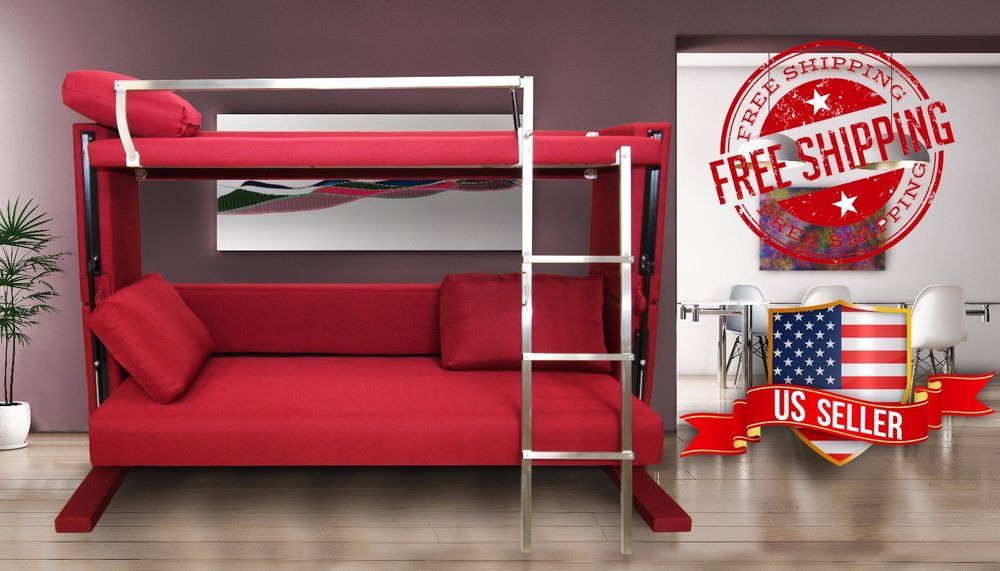 Cool Details About Convertible Sofa Bunk Bed Space Saving Gmtry Best Dining Table And Chair Ideas Images Gmtryco