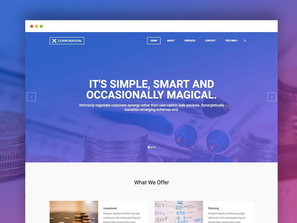 Free Bootstrap HTML Template For Business Agency Business