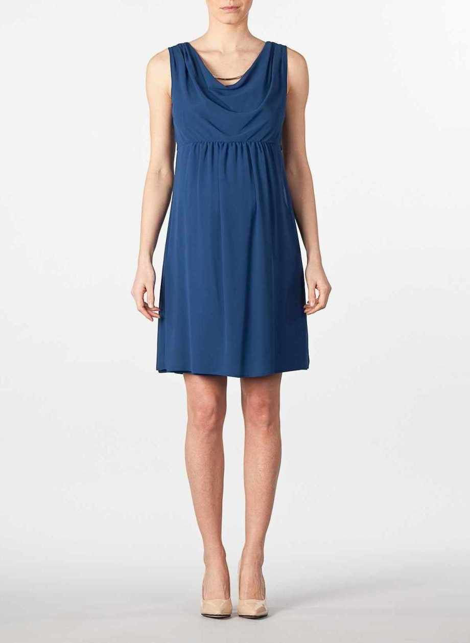 92167bb7b Vestido premamá sin mangas con abalorio OFERTA Vestido embarazada fiesta  azul  0474  - 83