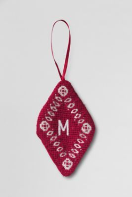 Diamond Needlepoint Ornament from Lands' End