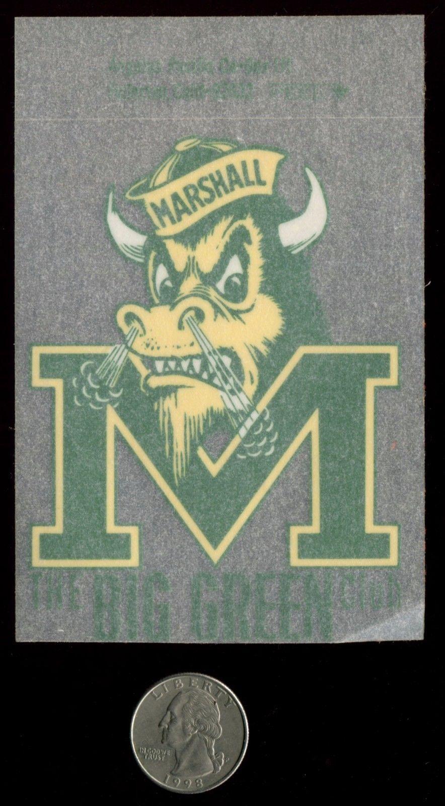 Marshall University Marco The Buffalo Vintage Souvenir Decal Nos Marshall University College Decals Vintage Souvenir