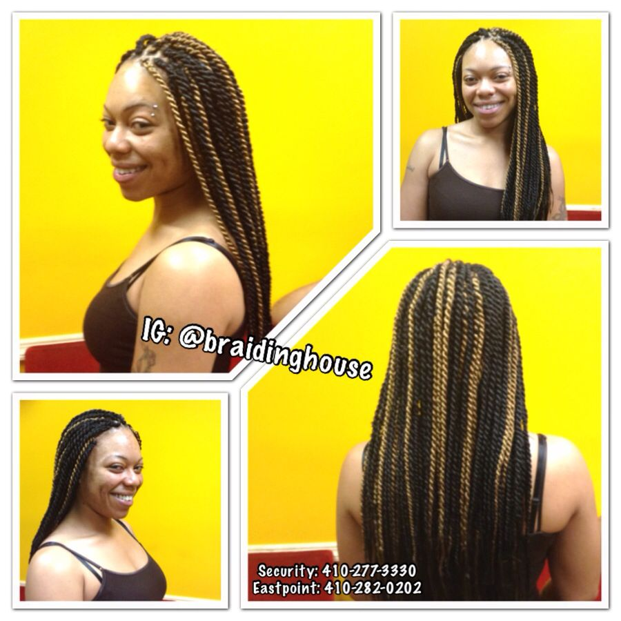larger senegalese twists, rope braids, long twists by the braiding