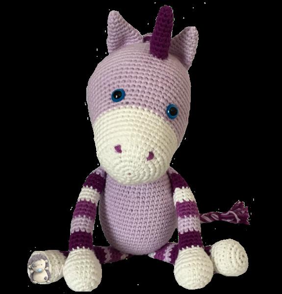 Patrón gratuito para elaborar un unicornio de amigurumi | Tejido ...
