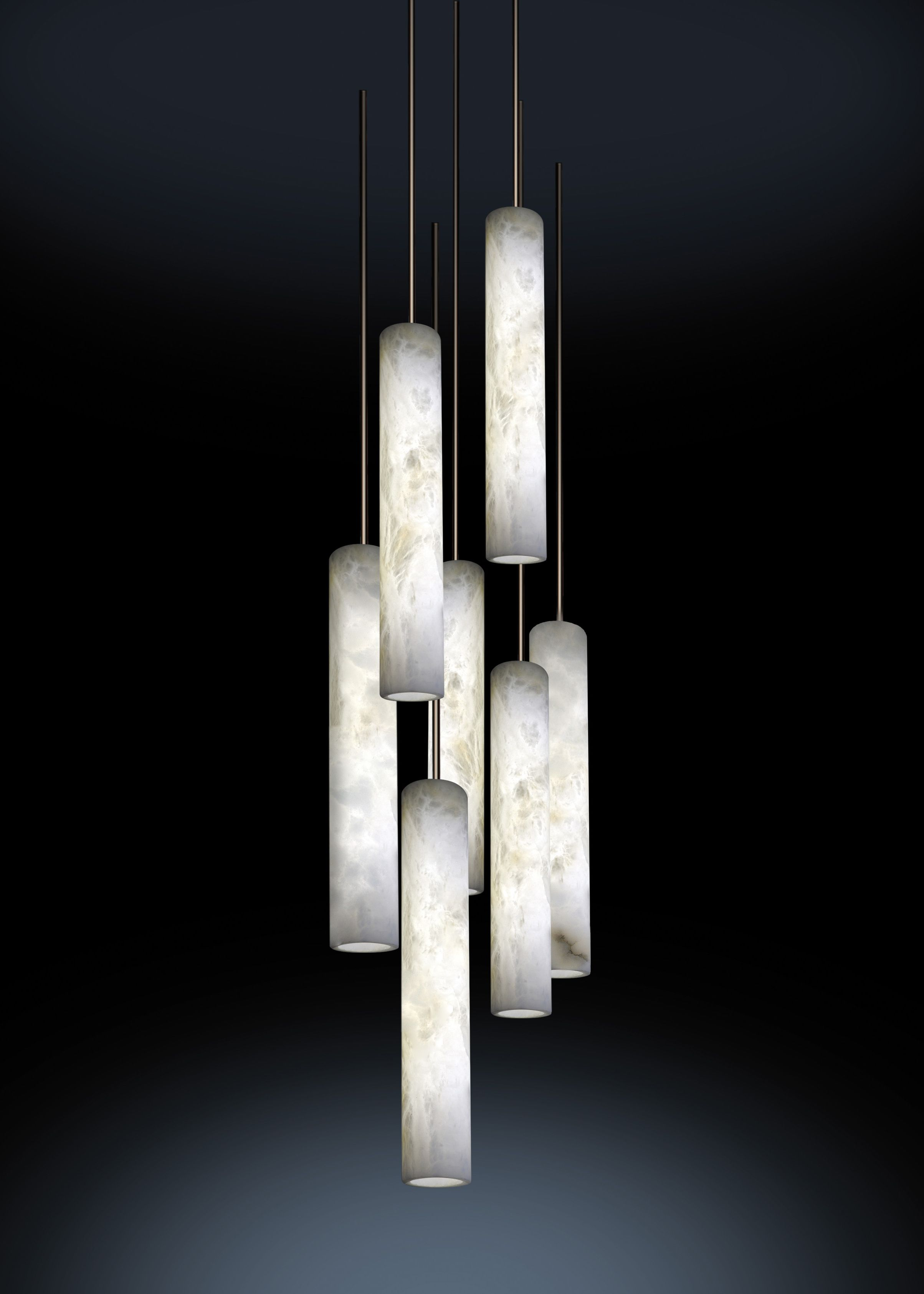 Vertical pendant light sumatra columns chandeliers and lights discover sumatra our chandelier made from simple elegant alabaster columns the delicate backlights arubaitofo Images