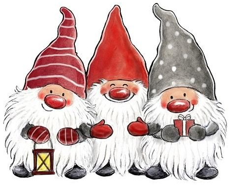Christmas Gnome.Little Helpers X Stitch Christmas Drawing Christmas