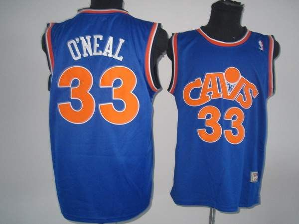 42cd30150 Mitchell and Ness Cleveland Cavaliers  33 Shaquille O Neal Stitching Blue CAVS  Throwback NBA Jersey