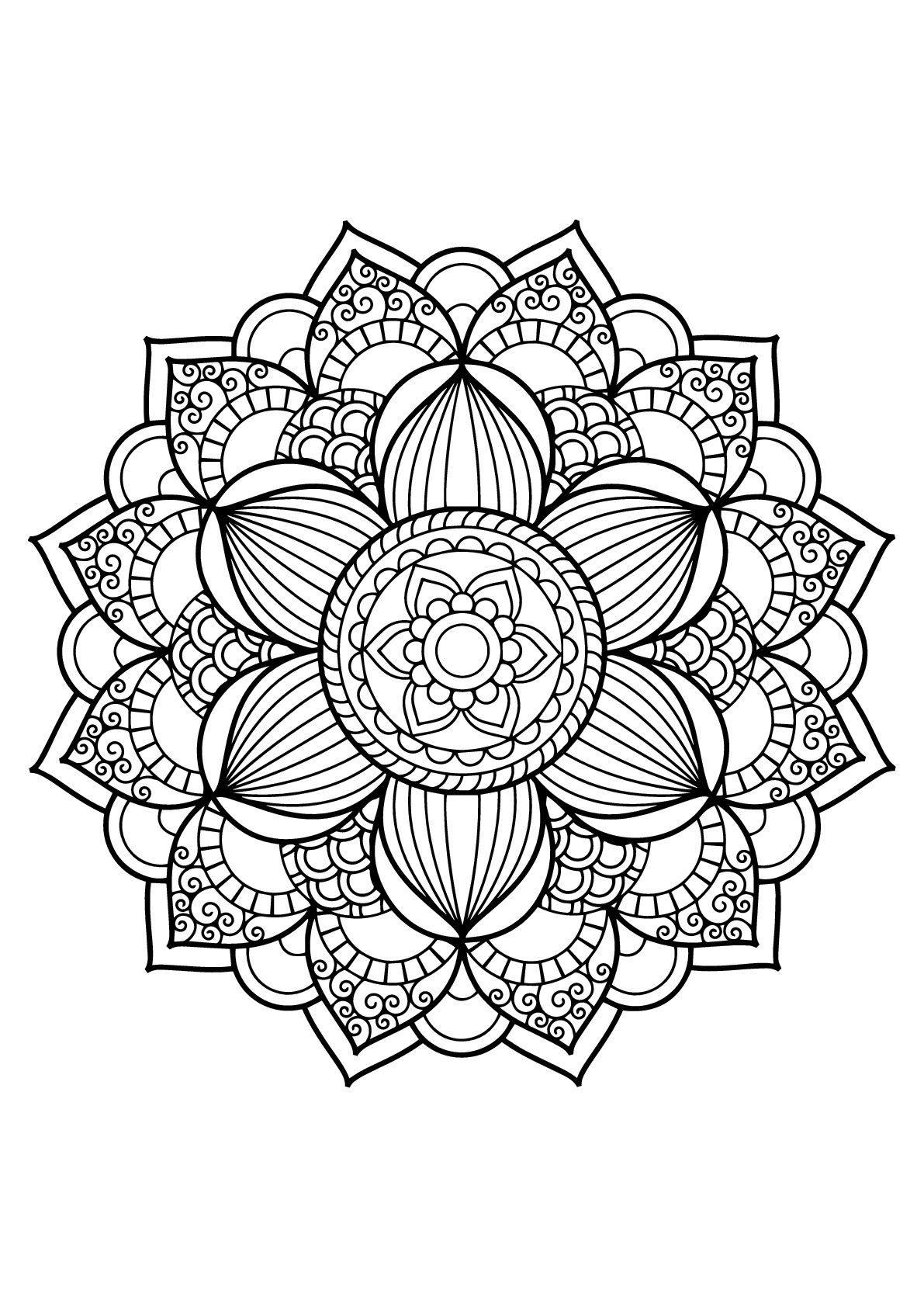 Here Are Difficult Mandalas Coloring Pages For Adults To Print For Free Mandala Is A Sans Mandala Coloring Pages Abstract Coloring Pages Flower Coloring Pages