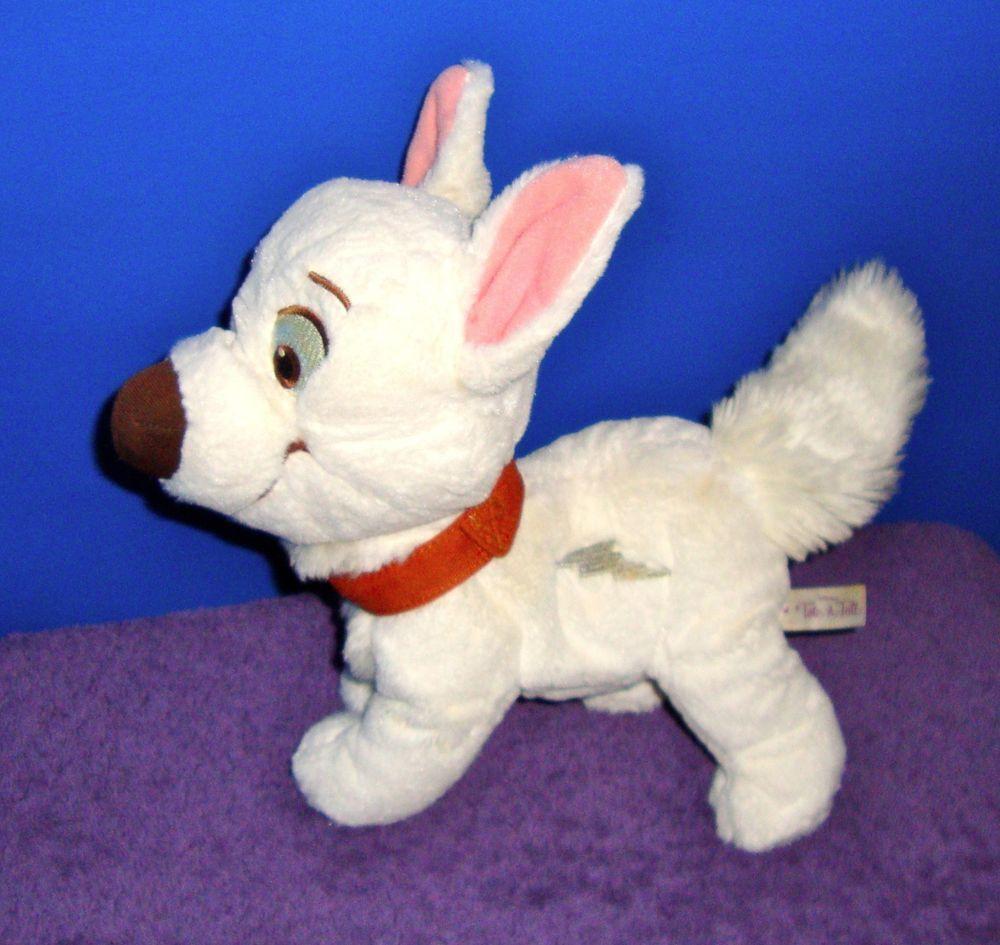 "Disney's Bolt White Puppy Dog 12"" Stuffed Animal Plushie"