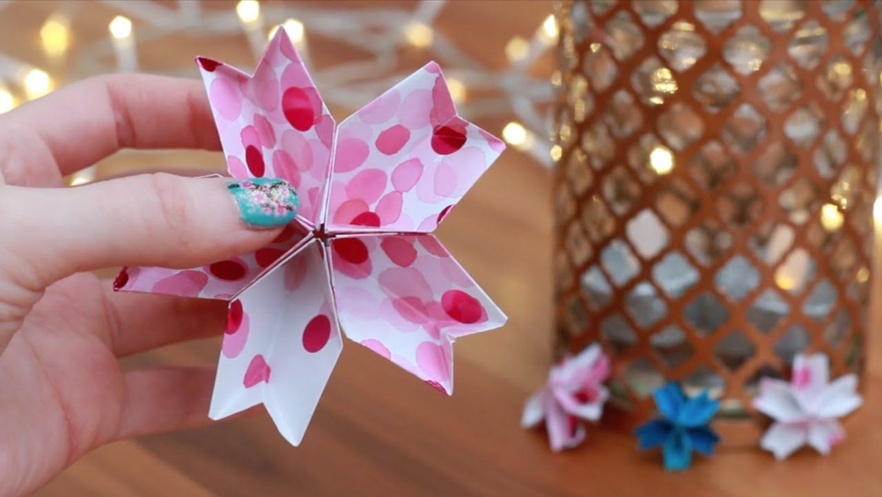 How To Make A Cherry Blossom Flower Origami Easy Beginner Version