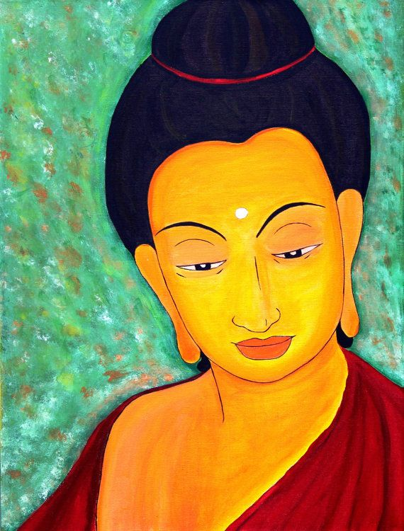 Modern Zen Buddha Spiritual Painting, Buddha Abstract wall Art ...