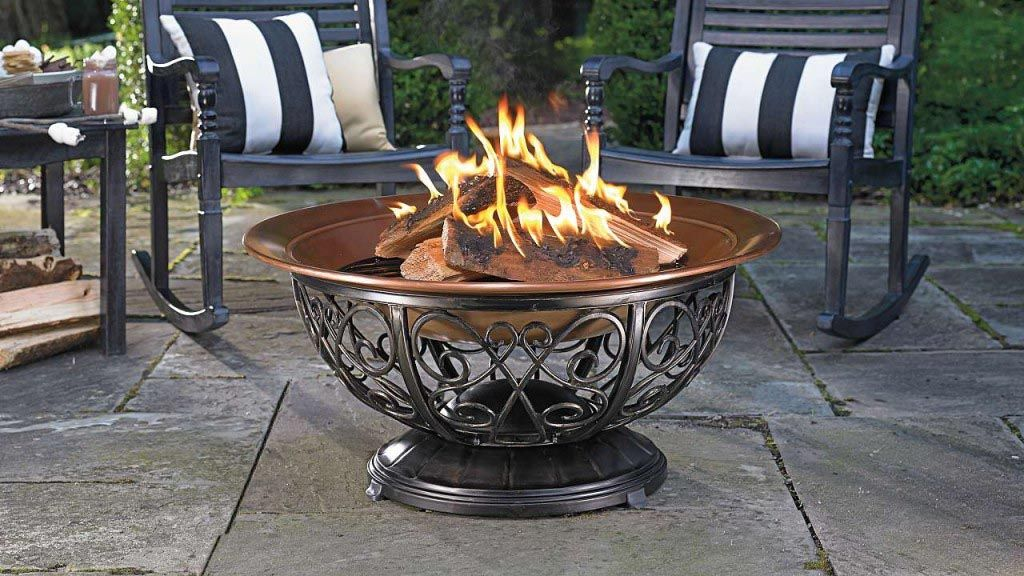 Coleman Fire Pit With Wheels Copper Fire Pit Wheel Fire Pit Outdoor Fire Pit