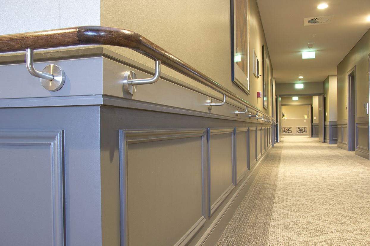 Chair Rail Handrail Part - 28: Aged Care Facility In Normanhurst Using Intrim Group Skirtings, Inlay  Mould, Chair Rail And