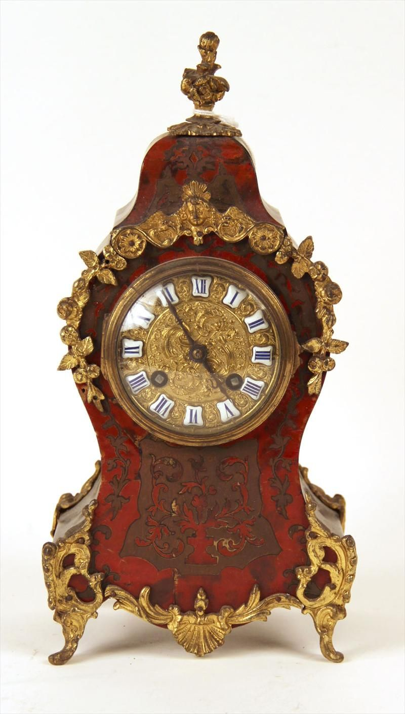 Boulle Mantel Clock, French Circa 1875