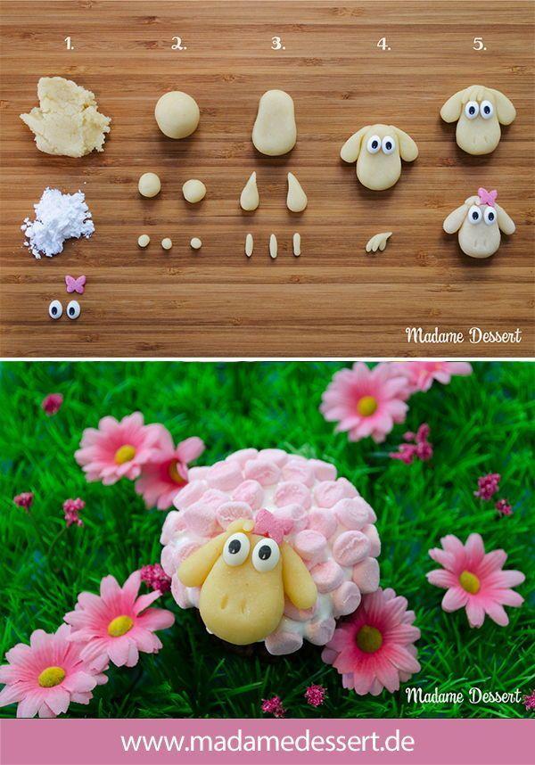 Osterschaf Agathe – Cupcakes im Marshmallowpelz – caros bakery