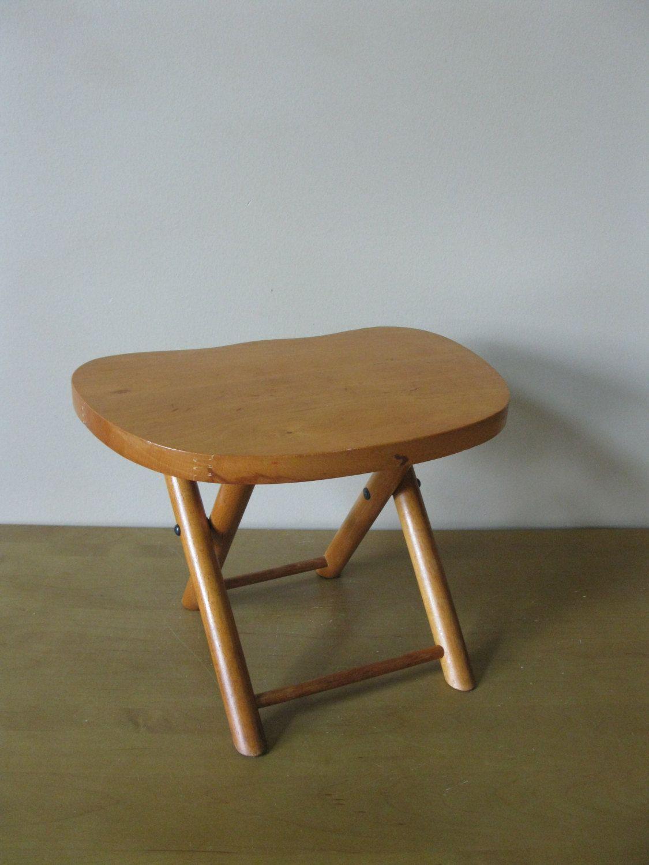 Mid century NEVCO folding stool - 1950s -fishing stool - gardening ...
